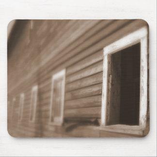 Barn window photo mousepad in Sepia Tone