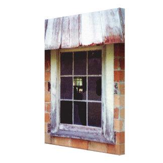 Barn Window Rustic Art Print on Wrapped Canvas Canvas Print