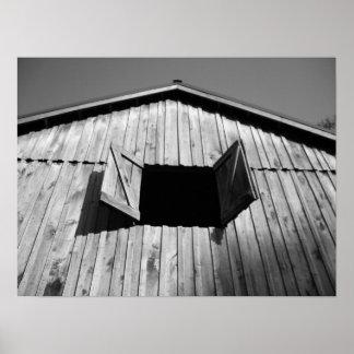 Barn Window's Open Poster