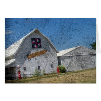 Barn With Corn and a Barn Quilt Card