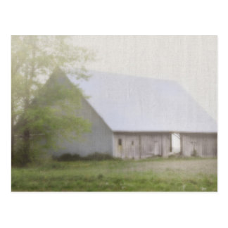 Barn with Fog Postcard