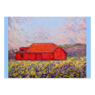 barn with irises large business cards (Pack of 100)