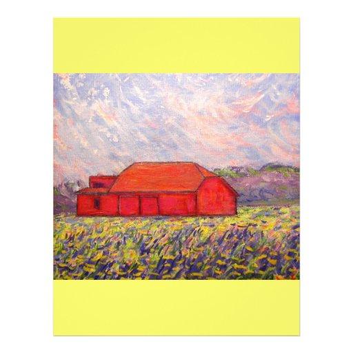 barn with irises flyers