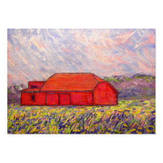 barn with irises large business card