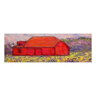 barn with irises mini business card