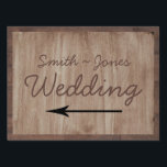 "Barn Wood and Birch Country Wedding Direction Sign<br><div class=""desc"">This fun design, called Barn Wood and Birch Country Wedding, has a rustic barn wood background. There is a light birch wood pattern inset in the middle to set off your text. This is a wonderful wedding set for a country, western, outdoor, or rustic themed wedding. This set has invitations,...</div>"