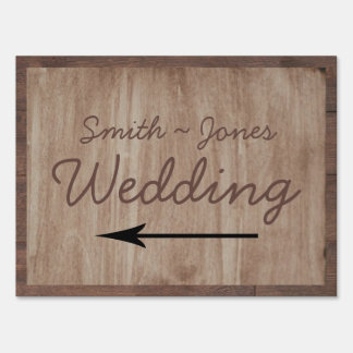 Barn Wood and Birch Country Wedding Direction Sign