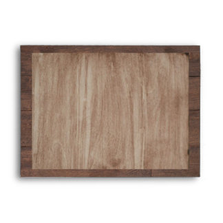 Barn Wood and Birch Country Wedding Envelope