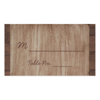Barn Wood and Birch Country Wedding Place Cards Double-Sided Standard Business Cards (Pack Of 100)