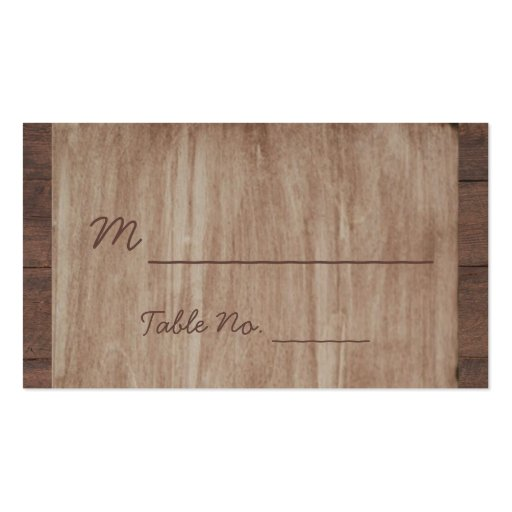 Barn Wood and Birch Country Wedding Place Cards Business Cards