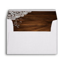Barn Wood and Lace Envelope
