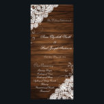 """Barn Wood and Lace wedding program<br><div class=""""desc"""">These barn wood and lace programs are perfect for country rustic weddings with a southern touch.</div>"""
