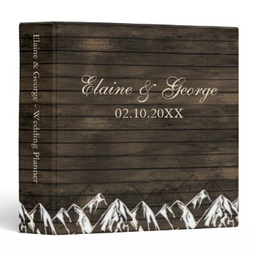 Barn wood Camping Rustic Mountains wedding Planner Binder