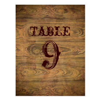 Barn wood Country cowboy Wedding table numbers Postcard
