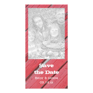 Barn Wood Country Wedding Save the Date Photo Card