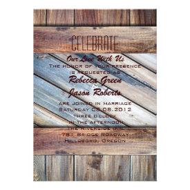 barn wood Cowboy Boots Western country Wedding Custom Invite
