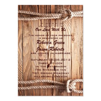 barn wood Cowboy Western country Wedding Card