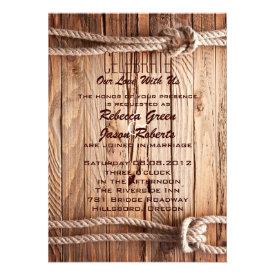barn wood Cowboy Western country Wedding Announcement