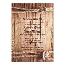 barn wood Cowboy Western country Wedding Invitation