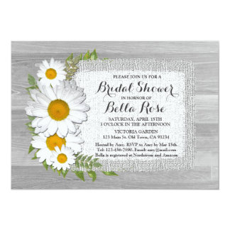 Barn wood daisies bridal shower invites daisy2