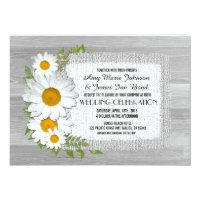 Barn wood daisy rustic wedding invitations daisy2