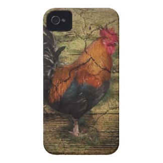 Barn Wood Farm Chicken french country rooster iPhone 4 Case