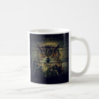 Barn Wood Gothic wild bird Spooky hoot owl Coffee Mug