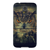 Barn Wood Gothic wild bird Spooky hoot owl Galaxy S5 Case