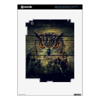 Barn Wood Gothic wild bird Spooky hoot owl iPad 3 Decals