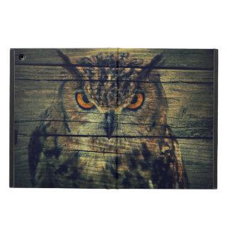 Barn Wood Gothic wild bird Spooky hoot owl iPad Air Cover