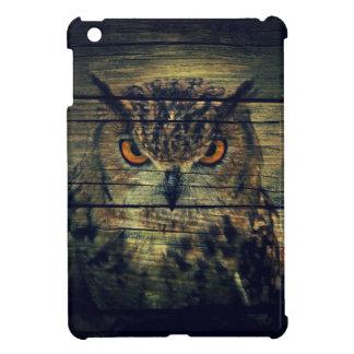 Barn Wood Gothic wild bird Spooky hoot owl iPad Mini Cover