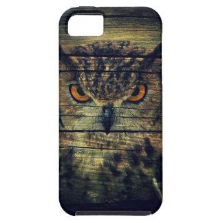 Barn Wood Gothic wild bird Spooky hoot owl iPhone SE/5/5s Case