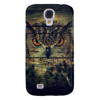 Barn Wood Gothic wild bird Spooky hoot owl Samsung Galaxy S4 Case