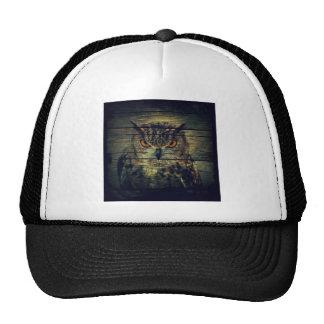 Barn Wood Gothic wild bird Spooky hoot owl Trucker Hat