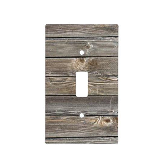 Barn Wood Light Switch Cover Zazzlecom