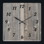 """Barn Wood Look Clock<br><div class=""""desc"""">Wall clock with the look of old barn wood.</div>"""