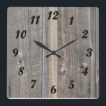 "Barn Wood Look Clock<br><div class=""desc"">Wall clock with the look of old barn wood.</div>"