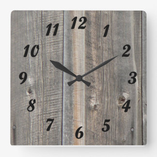 Barn Wood Look Clock