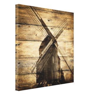 barn wood primitive farm western country windmill canvas print