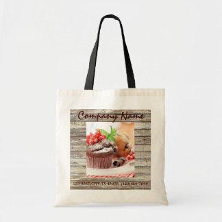 barn wood rustic bakery chocolate cupcake tote bag