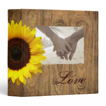 Barn wood Rustic Country cowboy Wedding 3 Ring Binder