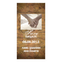 Barn wood Rustic Country cowboy Wedding Card