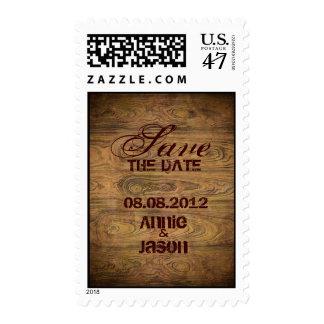 Barn wood Rustic Country cowboy Wedding Postage