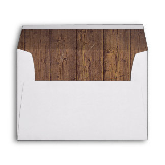 Barn Wood Rustic Country Wedding Envelope