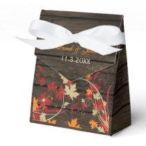 Barn Wood Rustic Fall Leaves Wedding Favor Box