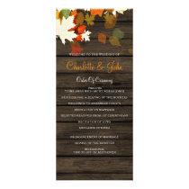 Barn Wood Rustic Fall Wedding programs