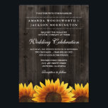 """Barn Wood   Rustic Sunflower Wedding Invitations<br><div class=""""desc"""">Barn Wood   Rustic Sunflower Wedding Invitations - features a barn wood background with rustic sunflowers at the bottom.</div>"""