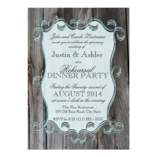 Barn Wood Sign Rehearsal Dinner Party Personalized Announcement