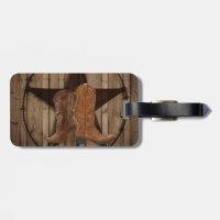 Barn Wood Texas Star western country cowboy boots Luggage Tag (<em>$11.70</em>)