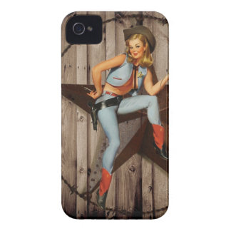 Barn Wood Texas Star western country Cowgirl iPhone 4 Case
